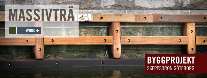 Byggprojekt Skeppsbron - Kärnsund Wood Link levererar Azobe, Bilinga och Okan