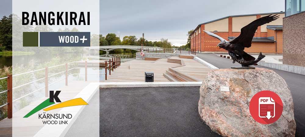 Projektbilder Bangkirai trall, Munktellbadet i Eskilstuna, Kärnsund Wood Link