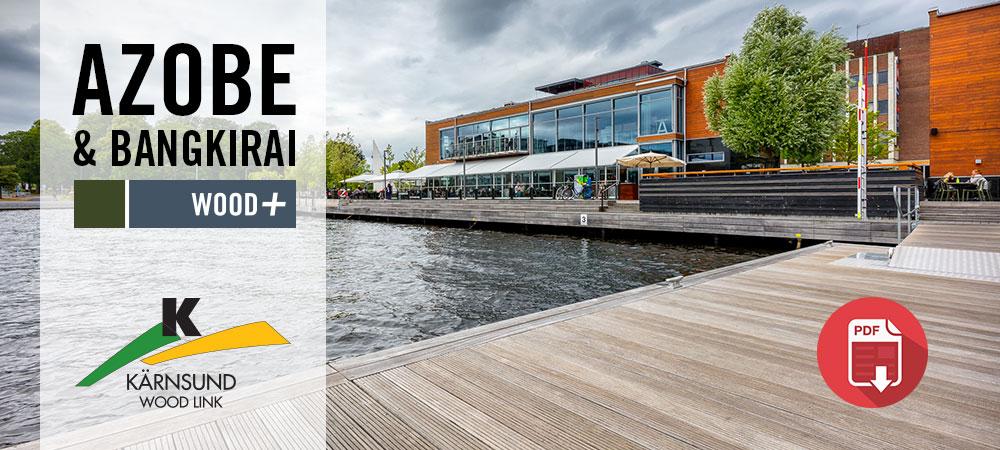 Projektbilder Azobe och Bangkirai vid Munksjön i Jönköping, Kärnsund Wood Link.