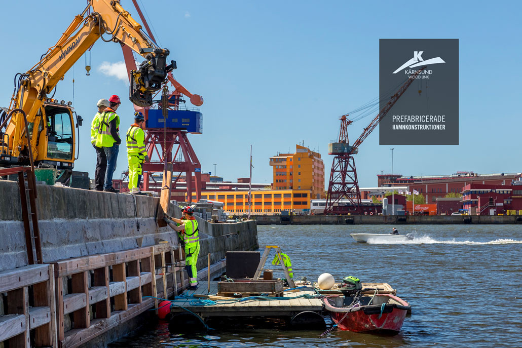Prefabricerade hamnkonstruktioner i hårdträ - Kärnsund Wood Link