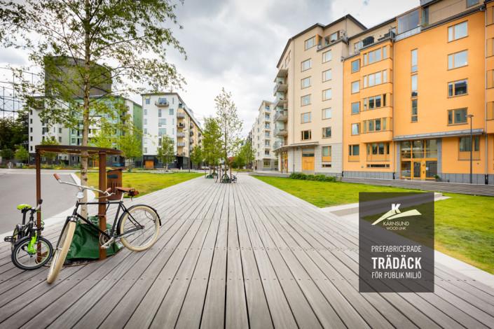 Prefabricerade trädäck i hårdträ - Kärnsund Wood Link