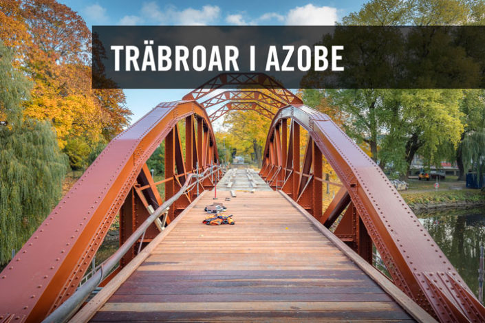 Prefab träbroar i träslaget Azobe från Kärnsund Wood Link.