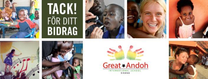 Kärnsund Wood Link skänker pengar till barnen i Ghana.