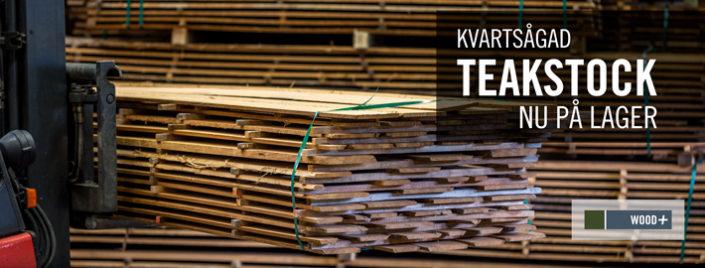 Kvartad teakstock - Kärnsund Wood Link