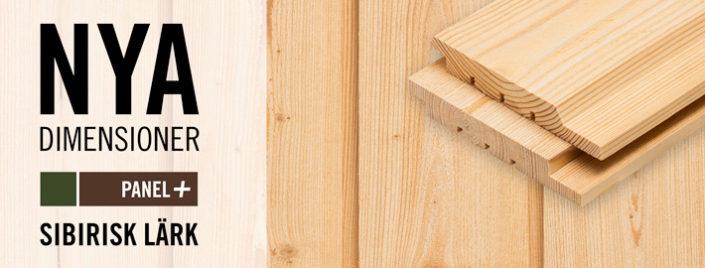 Nya dimensioner av panel i Sibirisk Lärk på lager - Kärnsund Wood Link
