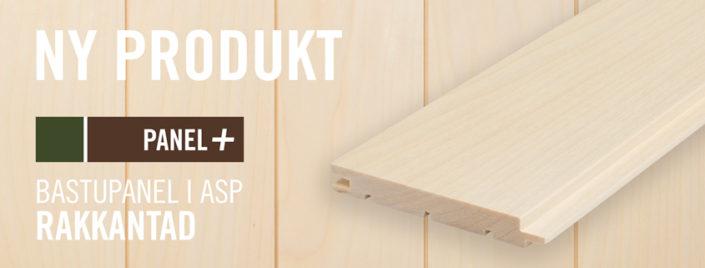 Bastupanel i rakkantad Asp 15x120 mm, Kärnsund Wood Link