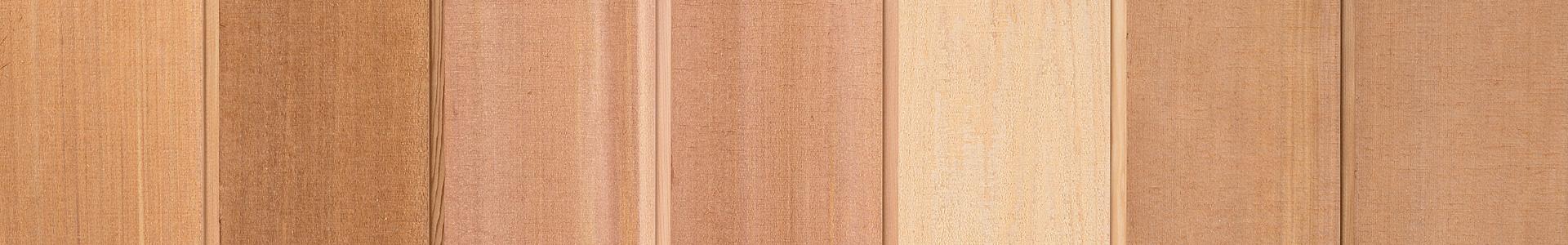 Nyhet! Rakkantad cederpanel, finsågad 17,5x140 mm, Kärnsund Wood Link
