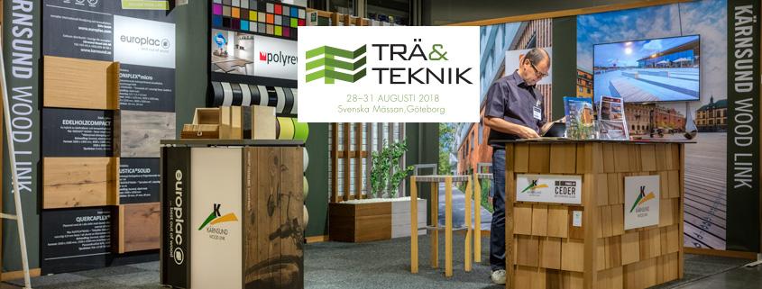 Besök Kärnsund Wood Link på Trä&Teknik på Svenska Mässan 28-31 aug 2018