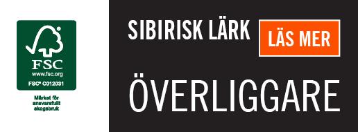 Överliggare i Sibirisk Lärk, Kärnsund Wood Link