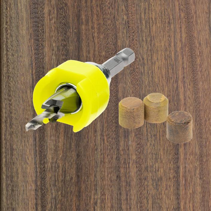 Növlek®-Borrförsänkare-för-träplugg. Kärnsund Wood Link.