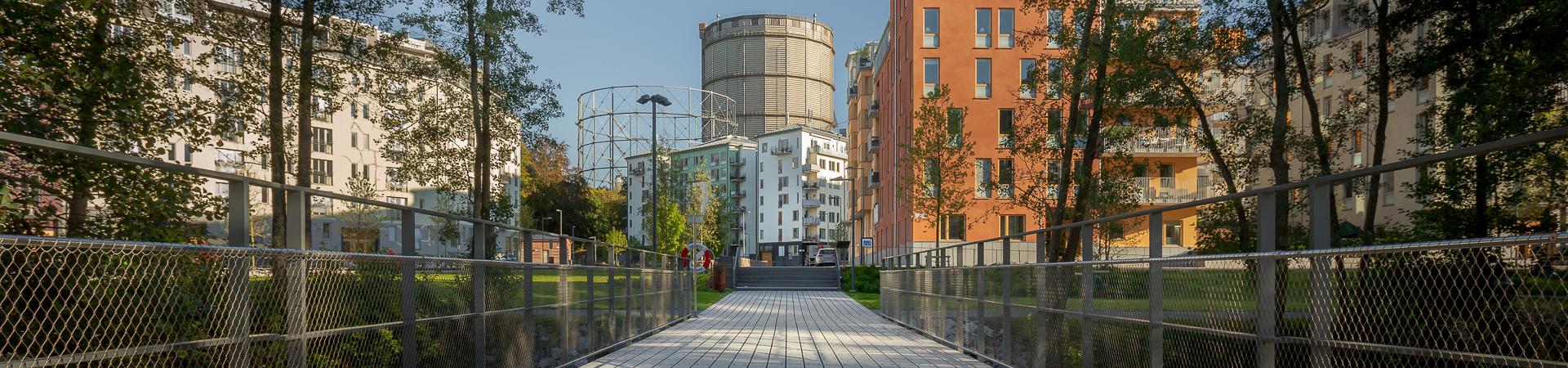 Projektstöd prefabricerade lösningar i hårdträ för stora byggprojekt. Kärnsund Wood Link.