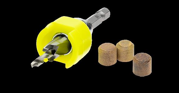 Növlek borrförsänkare för träplugg