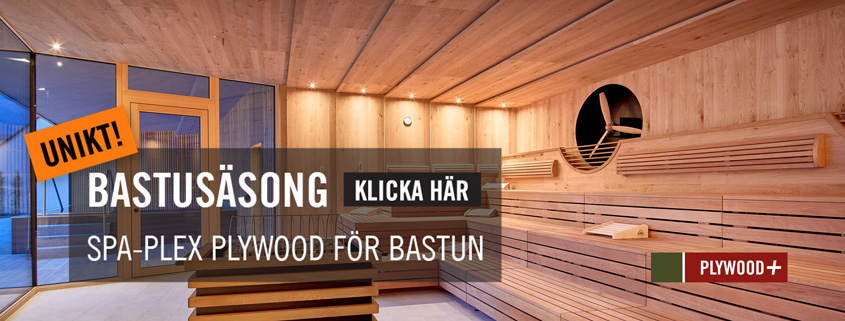 Spa-Plex bastuplywood, Kärnsund Wood Link.