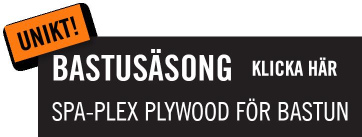 SPA-Plex en unik plywood för bastun, Kärnsund Wood Link.