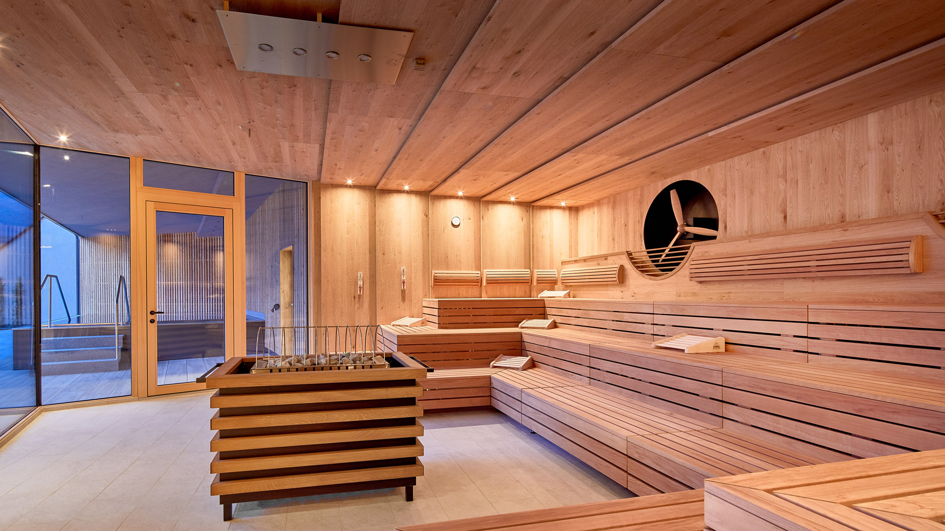Spa-Plex bastuplywood. Kärnsund Wood Link.