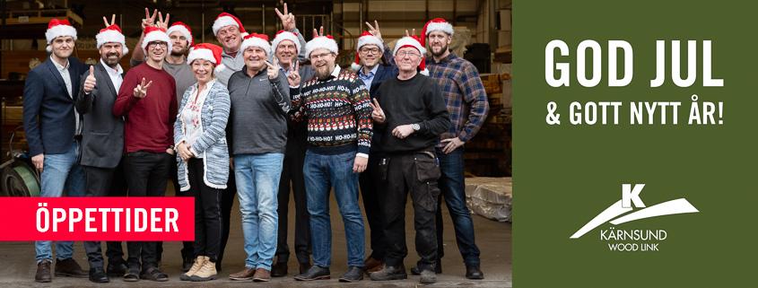 God Jul! Önskar alla vännerna på Kärnsund Wood Link.